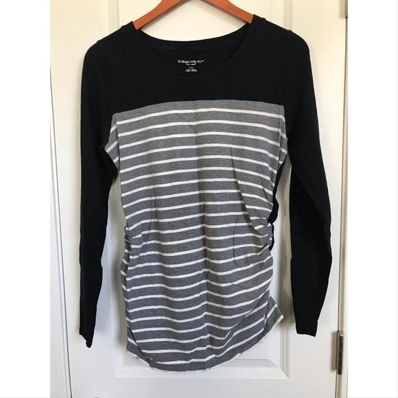 2aa29a6d7f608 Liz Lange for Target Tops - Liz Lange Maternity Striped Long Sleeve T-Shirt
